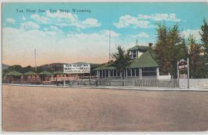 Wyoming Wy Postcard c1910 TEN SLEEP INN Restaurant Cabins Roadside