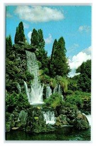 Postcard Towering waterfall and canals at Florida Cypress Garden 1979 G61
