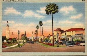 California Westwood Village Street Scene