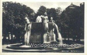 Nornenbrunnen Munchen Germany Unused