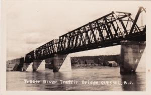 RP, Fraser River Traffic Bridge, Quesnel, British Columbia, Canada, 1920-1940s