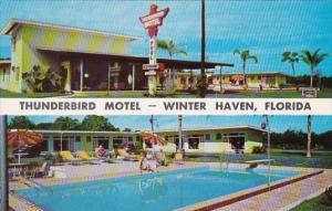 Florida Winter Haven Thunderbird Motel With Pool 1959