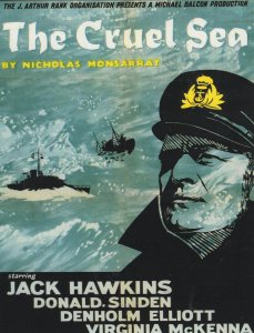 Jack Hawkins The Cruel Sea Cinema Film Repro Postcard