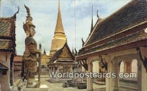 Bangkok Thailand Golden Chedi, Yak Demon Giant  Golden Chedi, Yak Demon Giant