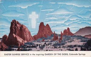 Colorado Springs Easter Sunrise Service In the Inspiring Garden Of the Gods 1950