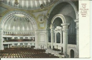 Interior Of The New First Church Of Christ Scientists, Boston, Mass.