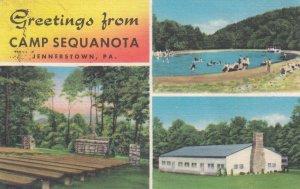 JENNERSTOWN, Pennsylvania, PU-1955; Greeting from Camp Sequanota