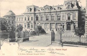 Romania Bucuresti Palatul Regal, Bucharest Royal Palace Building 1905
