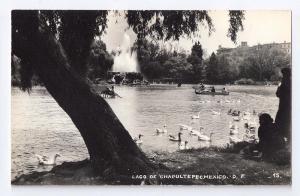 RPPC Lago De Chapultepec Mexico DeSentis D. F. ca 1941