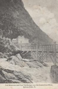 BELLOWS FALLS , Vermont , PU-1908 ; Toll Bridge