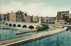 Aqueduct carrying Erie Canal over Genesee River Rochester New York pm 1909 - DB