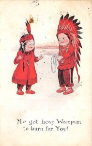 Me got heap Wampum to burn for you! Cartoon Indian PU Unknown