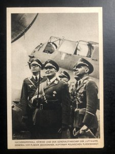Original Mint WW2 Germany RPPC Postcard Marshall Goring and the Air Force