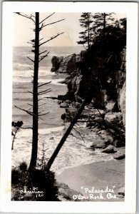 RPPC Palasades Otter Rock OR c1940 Vintage Postcard S24