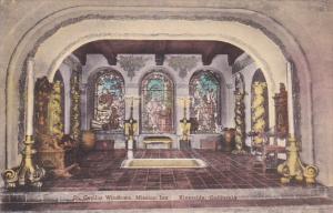 St Cecilia Windows Mission Inn Riverside California Handcolored Albertype