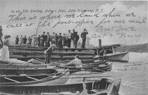 G65/ Lake Hopatong Nolan's Point New Jersey Postcard 1909 Boat Landing