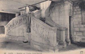 CAEN, France, 1910-1920s, Escalier de l'Eglise Saint- Sauveur