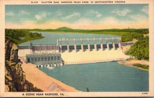 Virginia Radford Clayton Dam Showing Peaks Nob