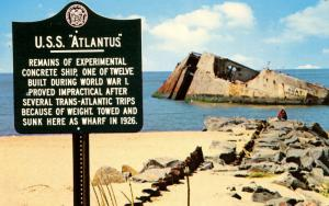 NJ - Cape May Point. USS Atlantus. Remains of Concrete Ship moved here.