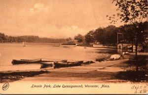 Massachusetts Worcester Lake Quinsigamond Lincoln Park 1906