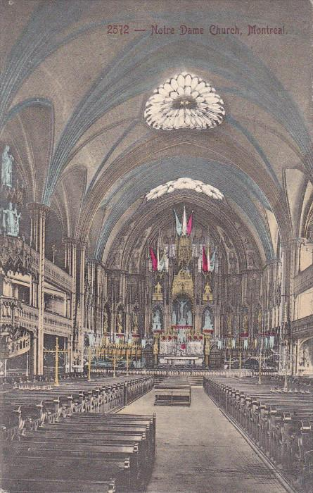 MONTREAL, Quebec, Canada, 1900-1910's; Notre Dame Church
