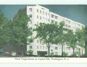 Unused Pre-1980 CONGRESSIONAL HOTEL Washington DC hr3646