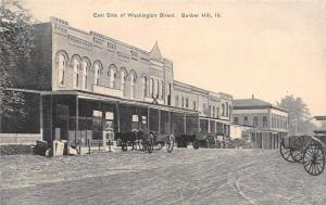 Bunker Hill Illinois~Washington Street~Should Be Called Mud Lane~Store X~1908