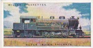 Wills Cigarette Card Railway Engines No 32 Dutch Indies Railways
