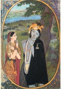 Postcard Lahore Museum PAKISTAN Krishna as ;urlidhar Radha flute play