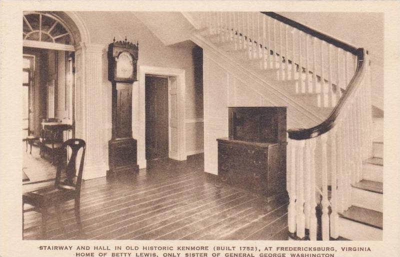 Stairway & Hall In Old Historic Kenmore, Fredericksburg, Virginia, 1910-1920s