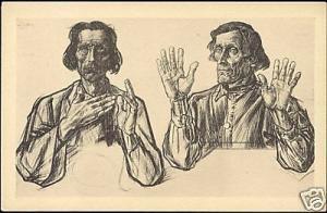 Dutch Symbolist JAN TOOROP Apostles Andrew and James