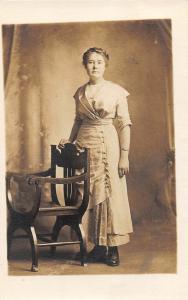 F36/ Jackson Ohio RPPC Postcard c1914 Ola Wilmore Woman 6