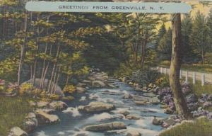 New York Greetings From Greenville 1949