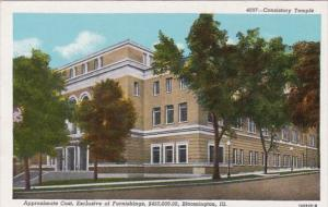 Illinois Bloomington Consitory Temple 1947 Curteich