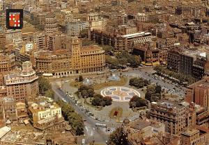 Spain Barcelona Catalonia Square Air view place Catalogne Vue air