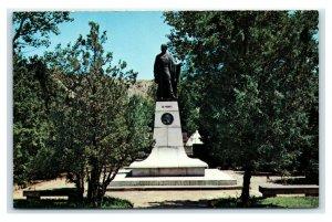 Postcard Marquis de Mores Statue, Medora ND J17