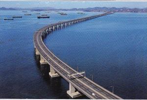 Brasil Rio De Janeiro Rj Air View Of Presidente Costa E Silva Bridge
