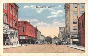 Hattiesburg Mississippi Main Street Looking North Vintage Postcard AA6777