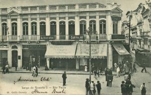 brazil, SÃO PAULO, Largo do Rosario II, Shops, Tram (1899)