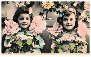 Young Girls and Flowers