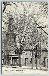 Alexandria Virginia~Christ Church~Iron Fence Around Grounds~Bare Trees~1907