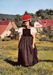 Schwarzwaldtracht Woman in Traditional Costume Houses Haus