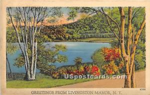 Greetings from Livingston Manor NY Unused