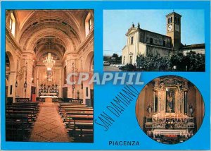 Postcard Modern Piacenza San Damiano di S. Giorgio La Chiesa