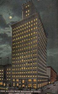 SALT LAKE CITY , Utah , 1913 ;  Walker Bank Building at night
