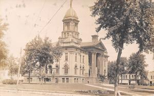 Windom Minnesota~Cottonwood County Court House~Stores Behind~1909 RPPC