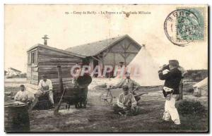 Old Postcard Militaria Mailly the Camp The mess has military butchery