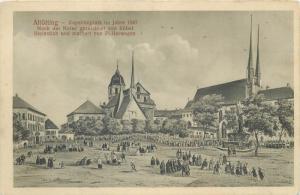 Altötting Altotting Kapellenplatz im Jahre 1840 Germany AK