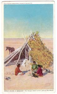 Navajo Indians at Breakfast
