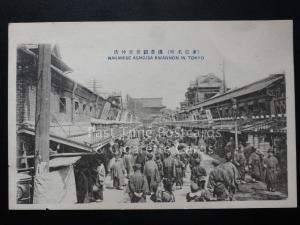 Japan: Tokyo, Nakammise Asausa Kwannon, Old Postcard